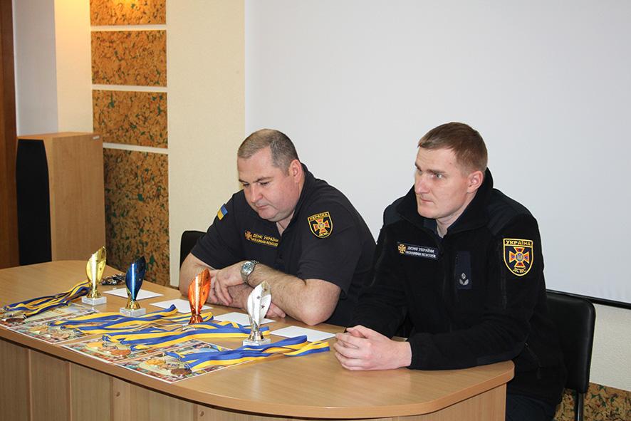 Рятувальники Полтавщини змагалися в гирьовому спорті