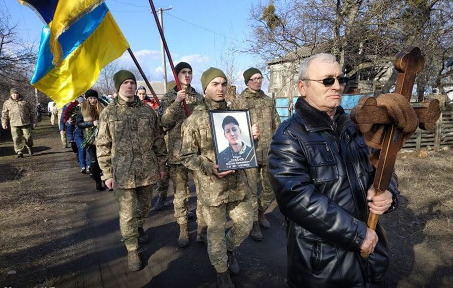 На Полтавщині попрощалися з загиблим на Донбасі солдатом