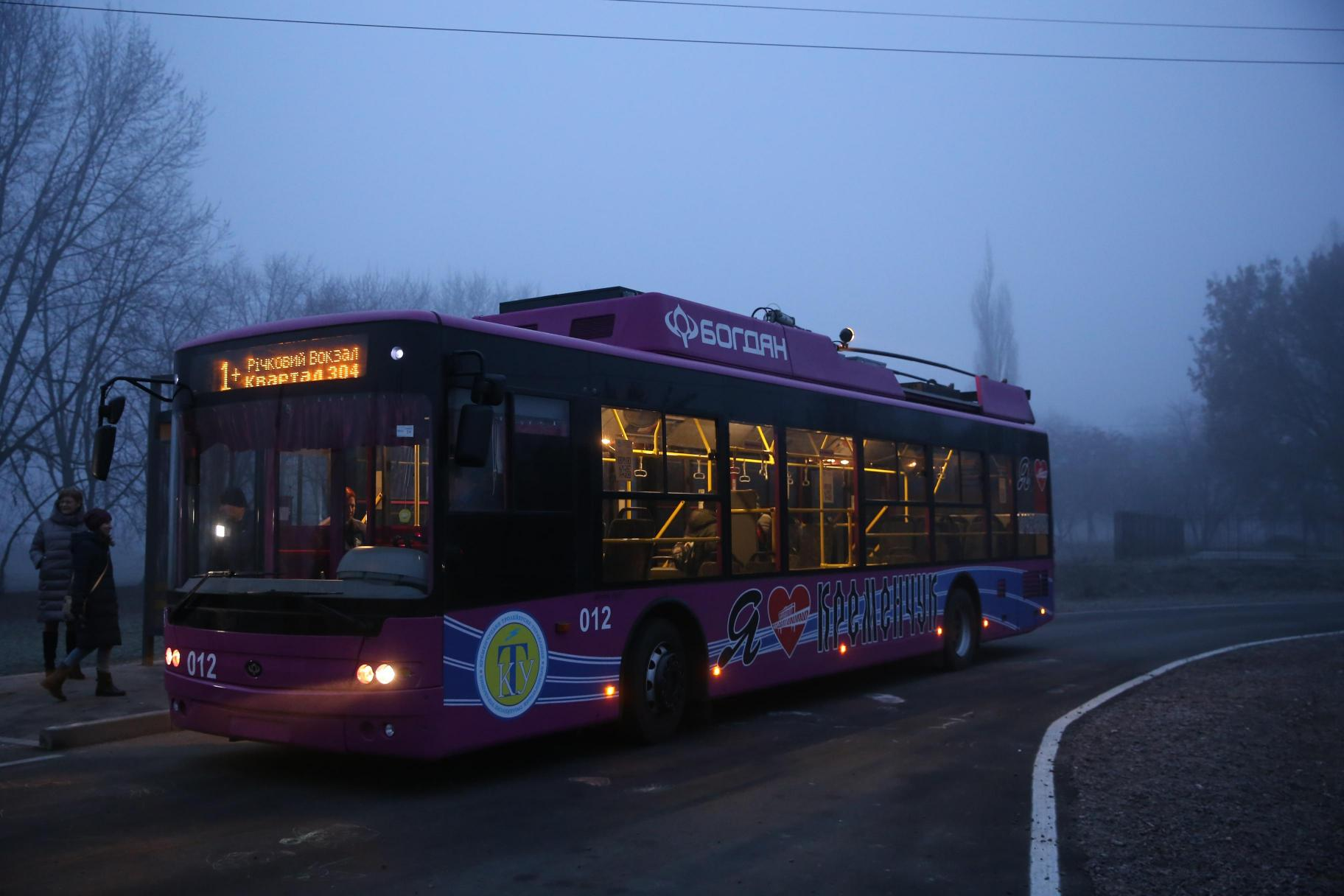 У Кременчуці на маршрут вийшли тролейбуси на автономному ходу