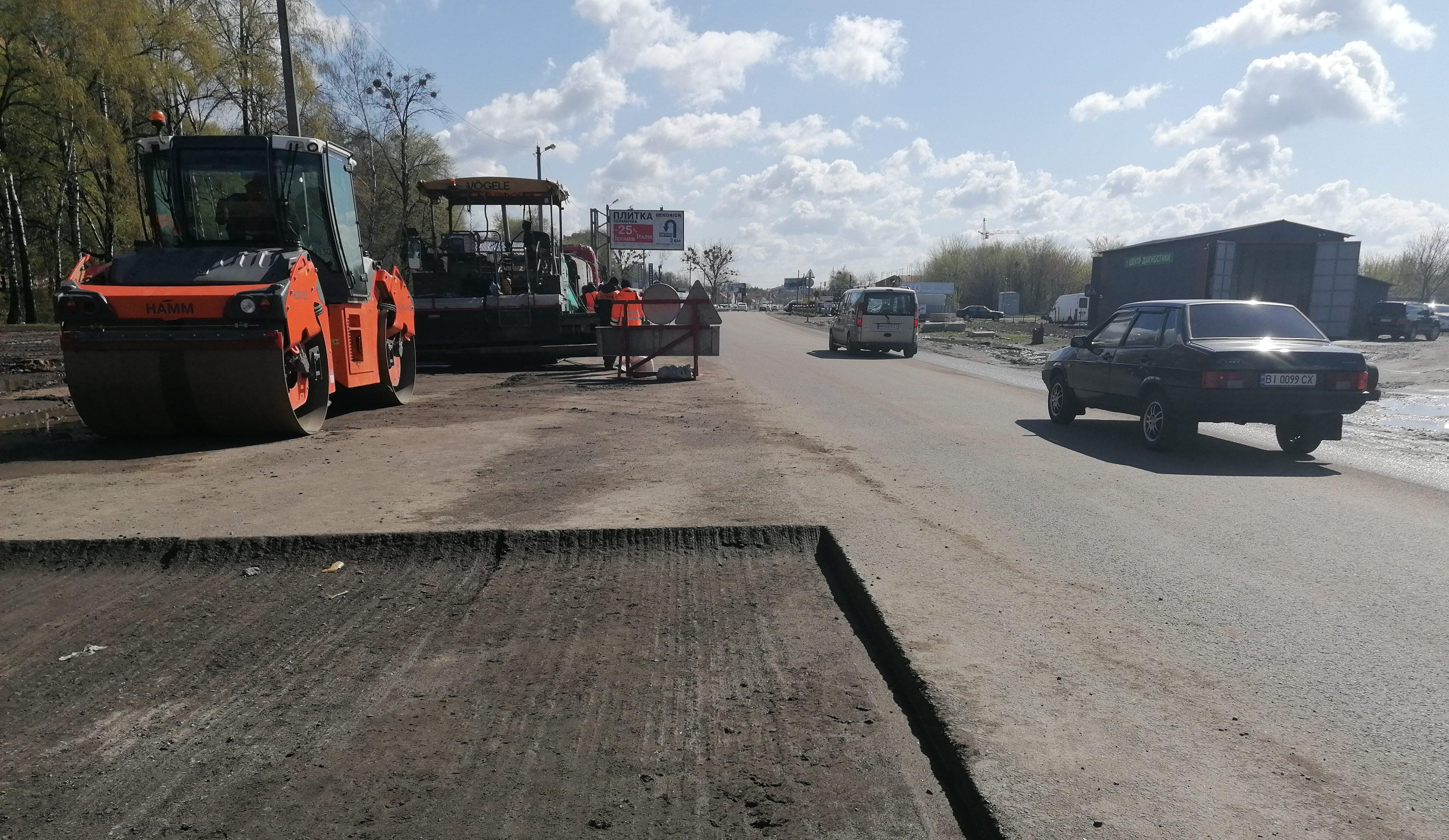 Дорогу Київ – Харків у Полтаві планують відремонтувати до кінця літа