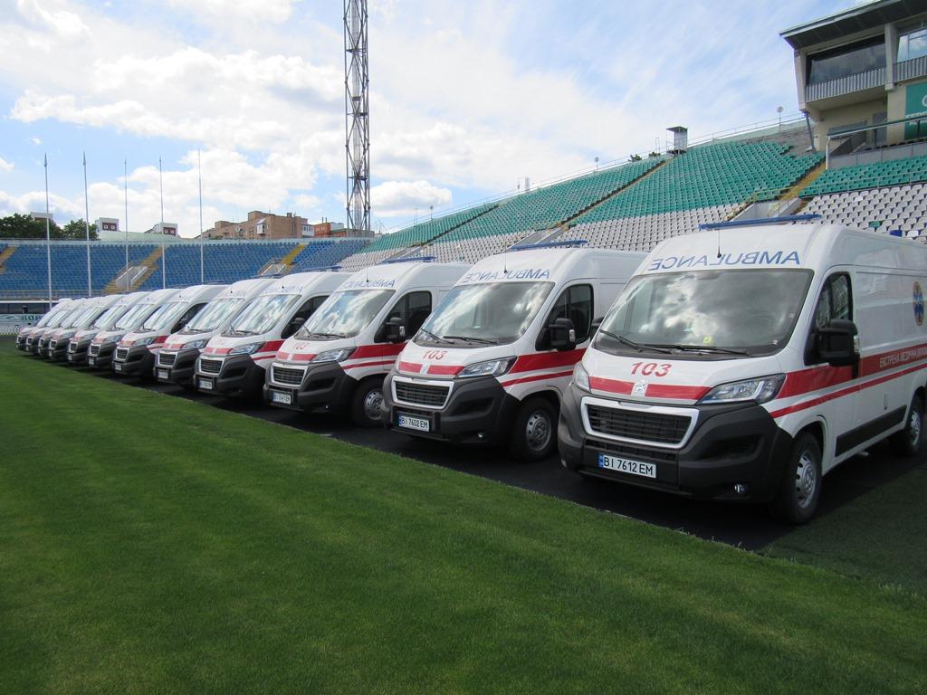 49 нових «швидких» виїдуть на маршрути по Полтавській області