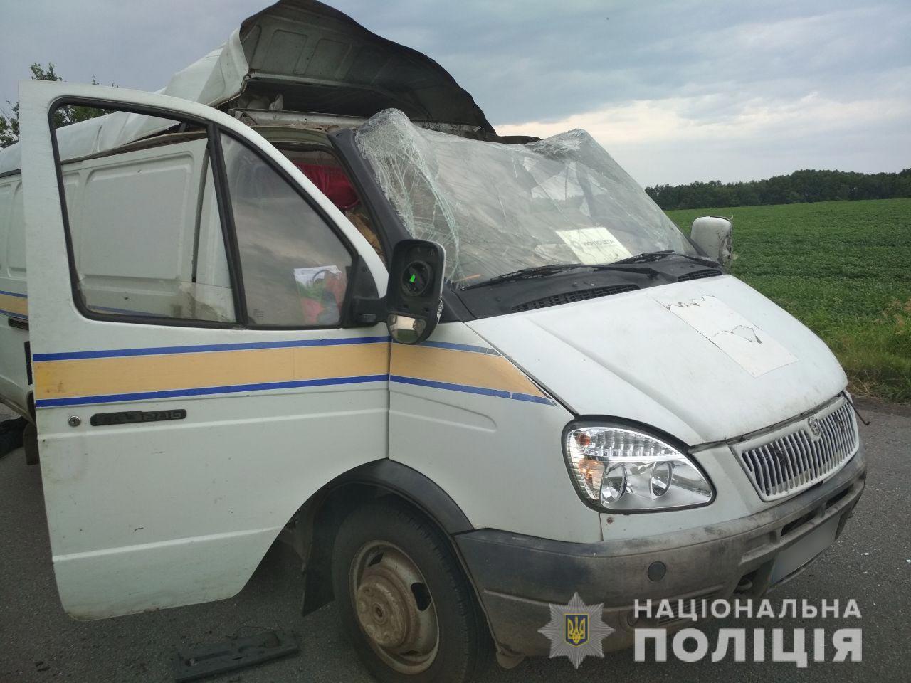 Невідомі підірвали авто «Укрпошти» й викрали пенсійні кошти