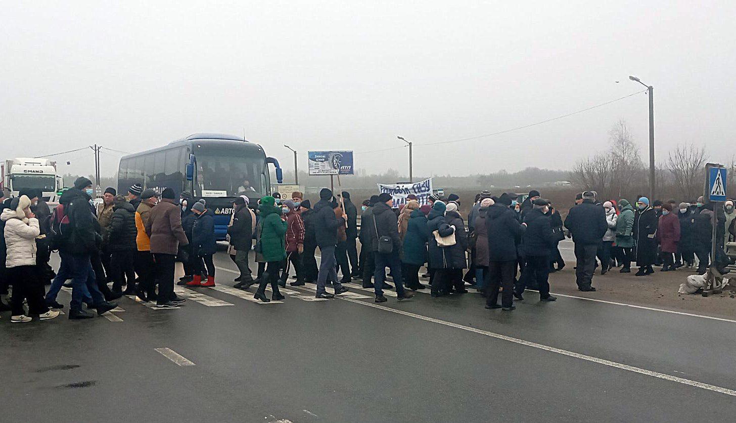 На Полтавщині на дві години перекрили трасу Київ – Харків