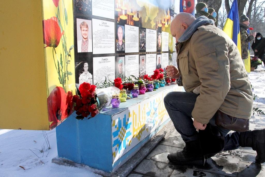 У Полтаві вшанували пам'ять Героїв Небесної Сотні