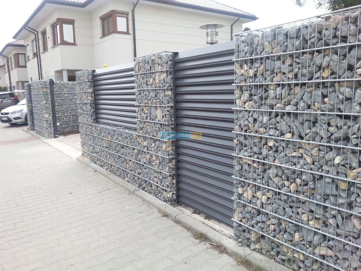 красивые уличные ворота из камней - производство въездных систем