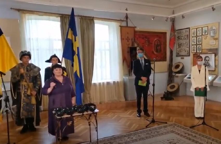 Олена Зеленська презентувала в музеї історії Полтавської битви аудіогід шведською мовою