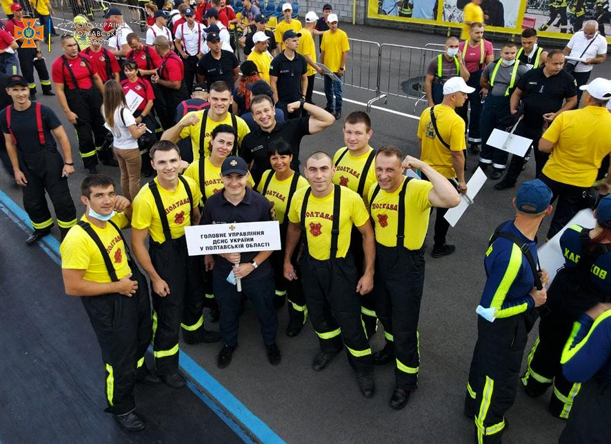 Полтавские спасатели борются за звание сильнейших